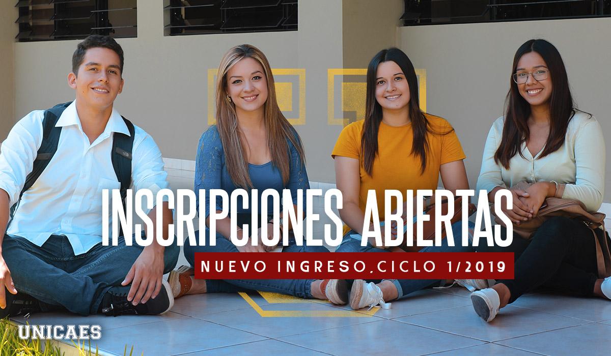 Universidad Catolica de El Salvador - UNICAES Nuevo Ingreso 2019 Santa ana