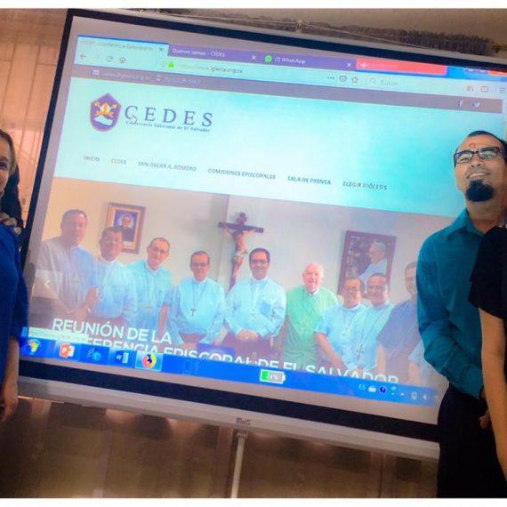 UNICAES COLABORA EN ACTUALIZACIÓN DE PÁGINA WEB DE CONFERENCIA EPISCOPAL DE EL SALVADOR
