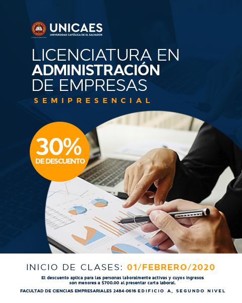 Licenciatura en Administración de Empresas Semipresencial UNICAES