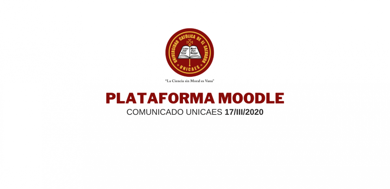 Comunicado UNICAES: Plataforma Institucional