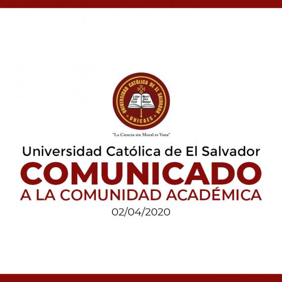 Comunicado UNICAES  |  Semana Santa