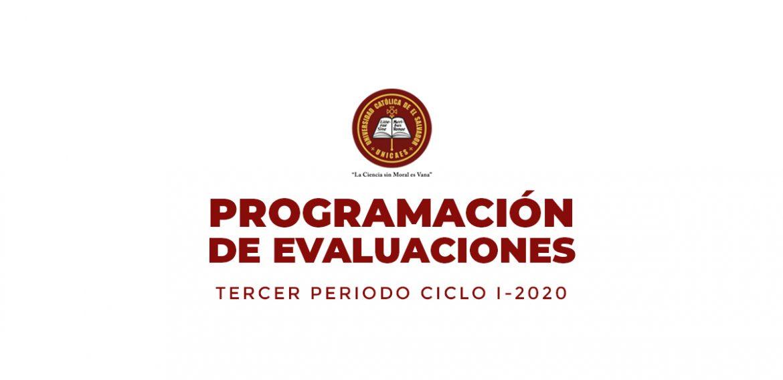 Programación de Evaluaciones – Tercer Periodo
