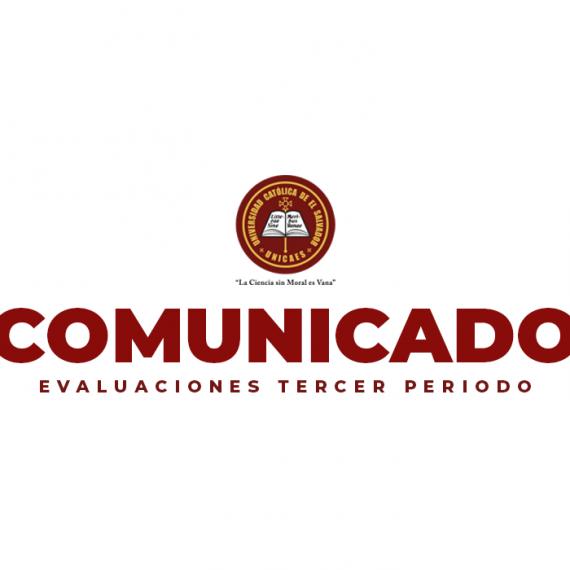 Comunicado – Evaluaciones Tercer Periodo