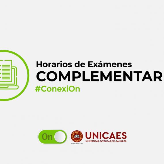 Horarios de Exámenes Complementarios I Ciclo I-2020