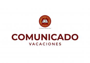 COMUNICADO VACACIONES | UNICAES