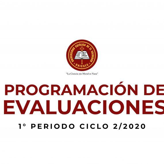Programación de Evaluaciones – Primer Periodo