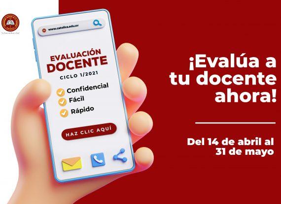 Evaluación Docente I UNICAES Ciclo 1/2021