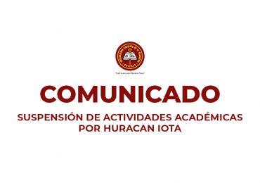 SUSPENSIÓN DE ACTIVIDADES ACADÉMICAS  POR HURACAN IOTA