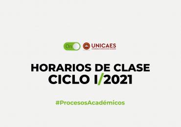 HORARIOS DE CLASES – CICLO I/2021
