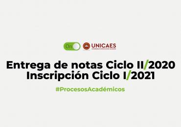 Entrega de Notas Ciclo II/2020 – Inscripción I/2021